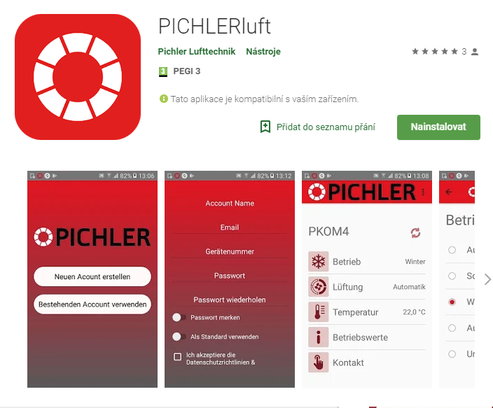 PICHLERluft na Google Play